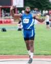 Lake Central's Gelen Robinson was third in the shot put at Saturday's state finals.