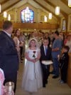 First Communicants crown Blessed Mother