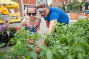 Local farmers markets provide a link between customer, farmer