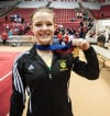 Morgan Twp's Kylee Maxwell won the state all-around gymnastics title Saturday.