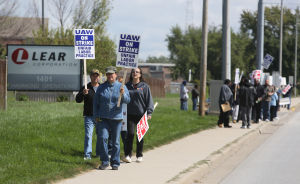 Lear Corp. workers hit the picket line