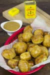 Colman's Stuffed Pretzel Bites and Coleman's Homemade Honey Mustard Dipping Sauce