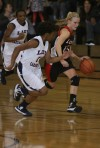 Logansport's Whitney Jennings, E.C. Central's Dariyelle Ricks