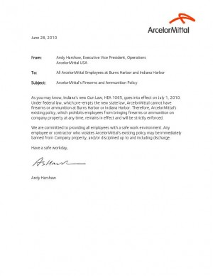 Pdf arcelormittal memo to employees