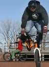 Cyclists show off moves at Crown Point Skate Park