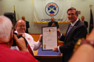 Safety village chief receives Sagamore of the Wabash