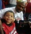 Jerome Harmon and son at Louisville game