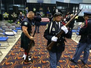 Crowds gather to pay tribute to slain Gary officer