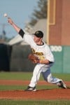 Hanover Central grad and NWI Oilmen pitcher Andy Wellwerts delivers a pitch during Friday's game against the Southland Vikings at Whiting's Oil City Stadium.