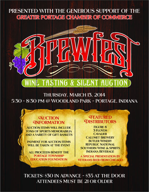 Portage Education Foundation with support of Greater Portage Chamber of Commerce to hold Brewfest