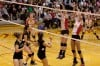 Griffith Panthers play Andrean 59ers in a regional championship volleyball match.