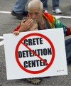 Protestors rally in Crete against plans for detention center