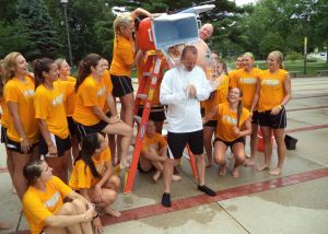 VU women's soccer and football teams take part in ALS Association Ice Bucket Challenge