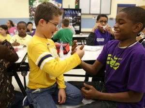 Crete students mix it up to learn to accept differences in each other