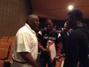 East Chicago school board retains football coach