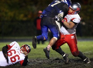Senior bookends lead Morton football's rising defense