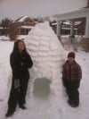 Igloo built by Gillian and Pete Leone