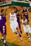 Morton's Kirkland Clark drives to the basket