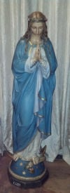 Blessed Virgin Mary Antique Statue Display