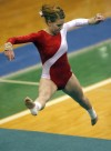 Crown Point's Carly Kiran performs her floor exercise