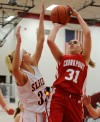 Crown Point's Kendall Brown, LaPorte's Taylor Thompson