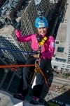 Whiting resident rappels 27 stories for lung health