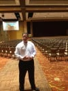 Four Winds General Manager Matt Harkness in the Stage Space of the New Silver Creek Event Center