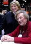 Martha Stewart with Julia Child at Chicago Housewares Show in 2001
