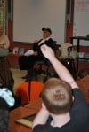 Crown Point WWII vet visits Oak Glen School