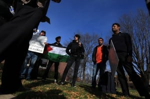 Purdue Calumet students hold rally to raise awareness of Palestinian deaths 