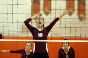 Hanover Central sweeps Wheeler in GSSC volleyball play