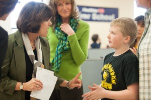 Crown Point school gets visit from Indiana first lady