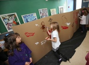 Northview Elementary students create 'cave' paintings