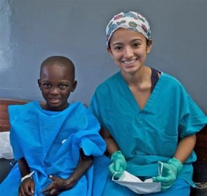 Teen confirms her career choice on medical mission to Ghana