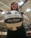 Lowell outside hitter Jessica Sharkey