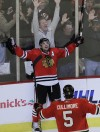 Blackhawks edge Blues 3-2 in OT