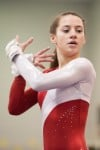 Crown Point freshman Hannah Best scored a 9.35 on floor at  Saturday's DAC gymnastics meet.