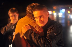 Marine welcomed home to Kouts after being shot by Taliban