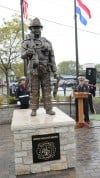 Lansing fire memorial makes debut