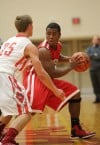 Morton's Eleazar Henderson drives the lane