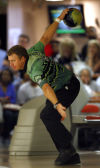 Randy Pedersen bowls in semifinals