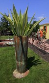 False Agave Incorporated into Metal Garden Modern Sculpture