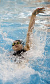 Wheeler's Gabi Gilliana competes in the 200 yard IM at the Chesterton Sectional prelims Thursday.