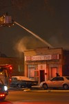 East Chicago bar goes up in flames
