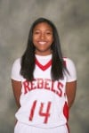 T.F. South girls basketball player Ninah Bertrand