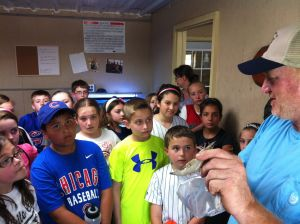 St. Mary's Environmental Club visits new shrimp farm