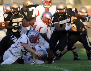 Long plays, penalties doom Griffith in loss to Morton