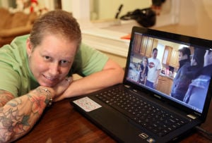 Lowell woman goes viral in breast cancer video