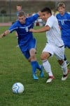 Lake Central's Ethan Donovan and Munster's Eric Frasco