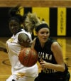 Seton Academy's Mariah Cole strips the ball away from Illiana Christian's Joanne Klapak on Thursday night.